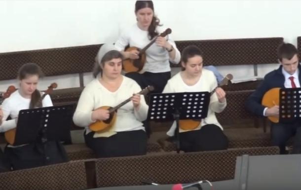 Струнный оркестр общее пение Рождественский Гимн