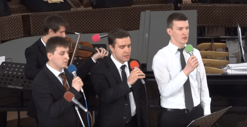 Trio s instrumentami Kamennye skrizhali ruki Tvortsa derzhali