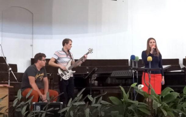 Пение группы Церкви «Эммануил» Алматы
