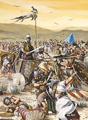 Saul ranen i proigryvaya bitvu s filistimlyanami