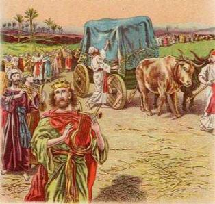 tsar' David vossel na svoem prestole