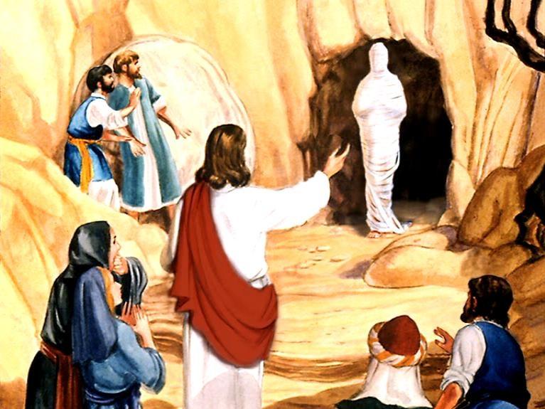 Iisus govorit Lazar' vyydi von
