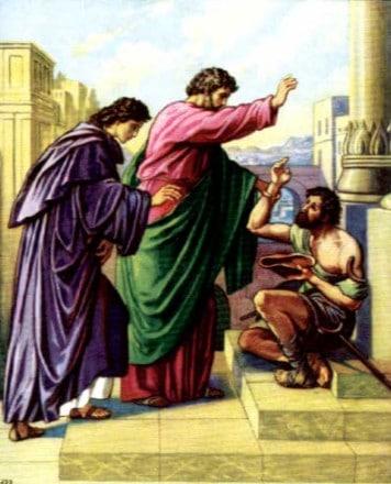 Petr i Ioann shli vmeste v khram