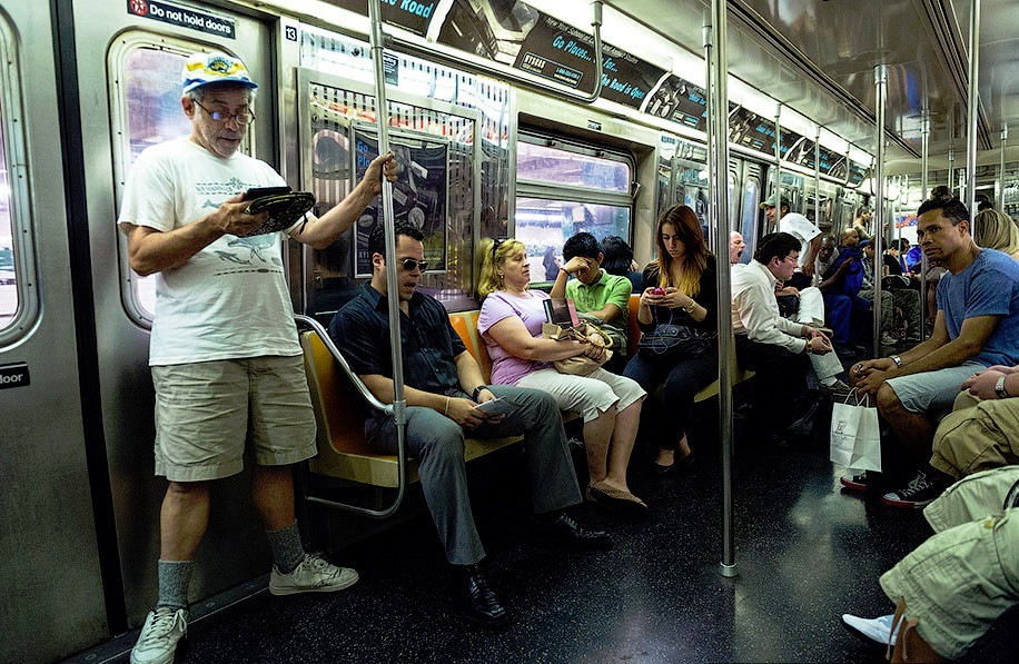 v vagone metro