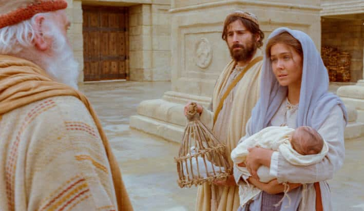 Vstrecha Simeona i roditeley Iisusa