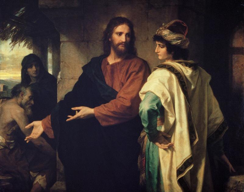 Iisus govorit bogatomu yunoshe