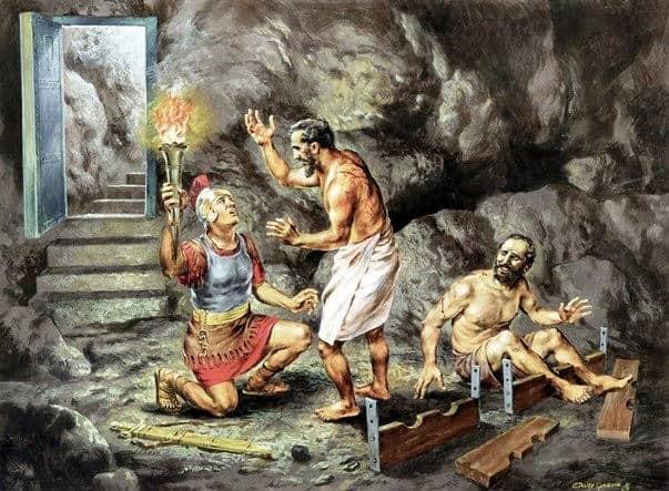 Pavel i Sila sidyat v tyurme