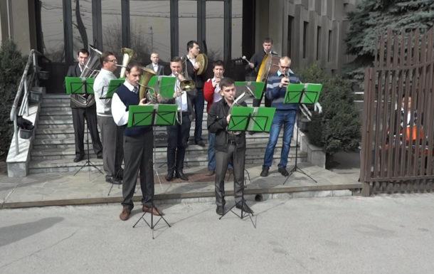 Оркестровое поздравление на Пасху 2017