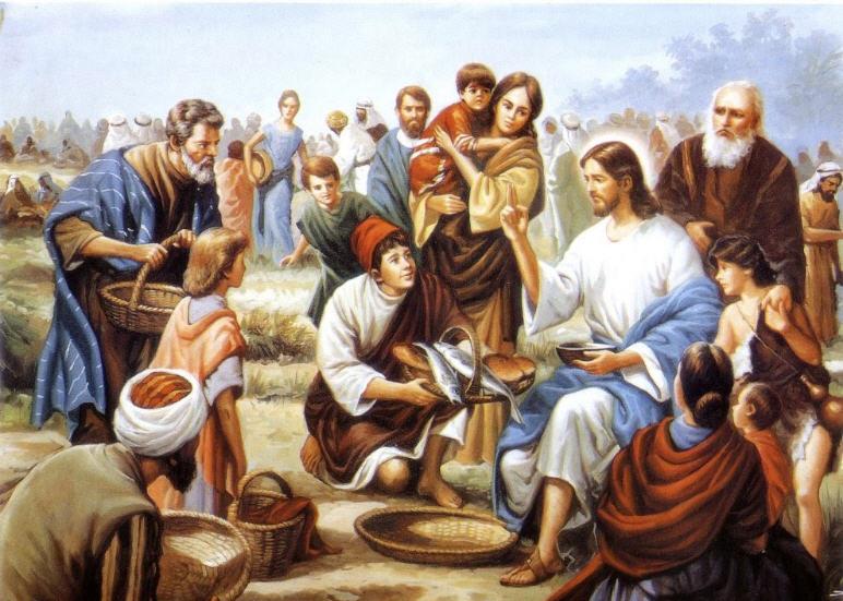 Iisus razdelil khleb