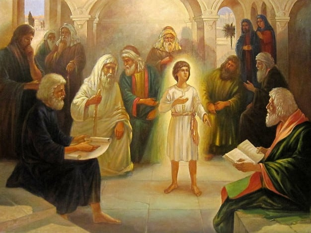 otrok Iisus v Khrame